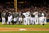 Detroit, MI - Oct. 18: Detroit Tigers v New York Yankees - The Detroit Tigers celebrate Photographic Print by Leon Halip