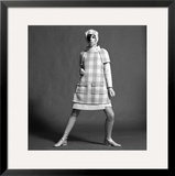 Checked Coat, 1960s Framed Giclee Print by John French