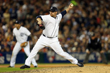 Detroit, MI - Oct. 18: Detroit Tigers v New York Yankees - Phil Coke Photographic Print by Jonathan Daniel