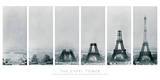Costruzione della Torre Eiffel Poster di  The Vintage Collection