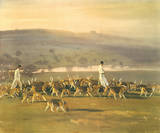 Belvoir Hounds Exercising in the Park Print by Sir Alfred Munnings