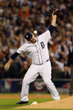 Detroit, MI - Oct. 18: Detroit Tigers v New York Yankees - Phil Coke Photographic Print by Leon Halip