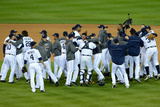 Detroit, MI - Oct. 18: Detroit Tigers v New York Yankees - The Detroit Tigers celebrate Photographic Print by Jason Miller