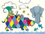 Horace Hippo I Prints by Kate Mawdsley