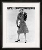 Christian Dior Tweed Suit with Cap and Scarf, 1961 Framed Giclee Print by John French