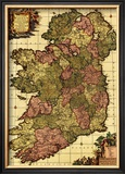 Ireland - Panoramic Map Poster