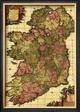 Ireland - Panoramic Map Poster