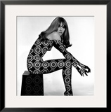 Circle Patterned Projection on Profile of Model, 1960s Framed Giclee Print by John French