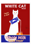 White Cat Milk Limitierte Auflage von Ken Bailey