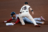 San Francisco, CA - Oct. 22: Giants v Cardinals - Carlos Beltran and Marco Scutaro Photographic Print by Thearon W. Henderson