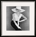 Outfit and White Hat, 1960s Framed Giclee Print by John French