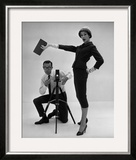 John French and and Daphne Abrams in a Tailored Suit, 1957 Framed Giclee Print by John French