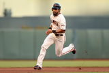 San Francisco, CA - Oct. 22: Giants v Cardinals - Angel Pagan and Marco Scutaro Photographic Print by Ezra Shaw