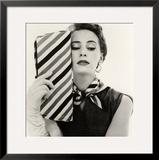 Barbara Miura with Madame Crystal Handbag and Neck Tie, 1953 Framed Giclee Print by John French