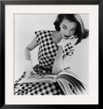 Helen Bunney in a Dress by Blanes, 1957 Framed Giclee Print by John French