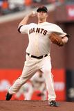 San Francisco, CA - Oct. 22: San Francisco Giants v St. Louis Cardinals - Matt Cain Photographic Print by Ezra Shaw