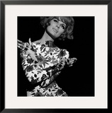 Floral Projection on Model, 1960s Framed Giclee Print by John French
