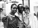 Nina Simone, Godfrey Cambridge, and Jane Saxon - 1968 Photographic Print by G. Marshall Wilson