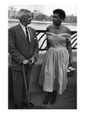 Billie Holliday and Author William Faulkner - 1956 Photographic Print by Moneta Sleet