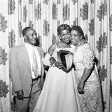 Sarah Vaughan celebrating Sarah Vaughan Day with her parents - 1957 Photographic Print by Moneta Sleet