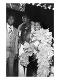 Jim Brown with Clifton Davis and Telma Hopkins Photographic Print by Bob Lucas