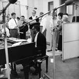 Ray Charles Recording Session Photographic Print by Howard Morehead