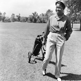Sarah Vaughan on golf course. Photographic Print by Isaac Sutton