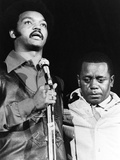 Jesse jackson and Flip Wilson - 1971 Photographic Print by Isaac Sutton