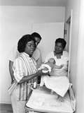 Sarah Vaughan Adopts a Baby - 1961 Photographic Print by G. Marshall Wilson