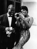 Louis Armstrong and Jewel Brown Photographic Print by Normal Hunter