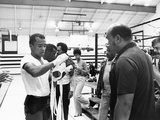 Sugar Ray Leonard Training Photographic Print by Maurice Sorrell