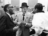 Ray Charles, Frank Sinatra Photographic Print by JPC Staff Photographer JPC Staff Photographer