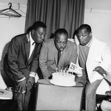 Count Basie, Joe Williams and George Kirby - 1960 Photographic Print by Issac Sutton