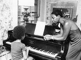 Nina Simone and daughter - 1971 Photographic Print by G. Marshall Wilson