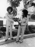 Michael Jackson and Joseph Jackson - 1975 Photographic Print by Isaac Sutton