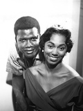 Sidney Poitier and Beverly Armelin Photographic Print by William Lanier
