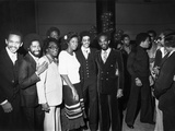 Commodores and Natalie Cole - 1977 Photographic Print by Isaac Sutton