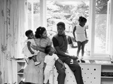 Sidney Poitier and Family Photographic Print by G. Marshall Wilson