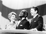 Ray Charles, Ronald Reagan, Nancy Reagan - 1984 Photographic Print by Michael Cheers