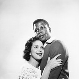 Sidney Poitier and Hilda Simms Photographic Print by G. Marshall Wilson
