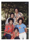 Michael Jackson and Brothers, 1979 Photographic Print by Vandell Cobb