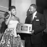 Sarah Vaughan receives honor - Chicago 1955. Photographic Print by Isaac Sutton
