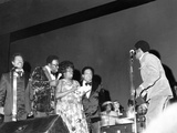 Sarah Vaughan and others performing at Quincy Jones Tribute - 1975 Photographic Print by Isaac Sutton
