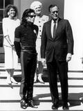 Michael Jackson; George H.W. Bush - 1990 Photographic Print by Maurice Sorrell