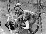 Eartha Kitt and Daughter - 1965 Photographic Print by Norman Hunter