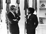 James Brown, Richard Nixon - 1972 Photographic Print by Maurice Sorrell