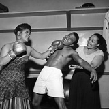Sugar Ray Robinson, Ruth Brown, and Blanche Calloway Photographic Print by Bertrand Miles