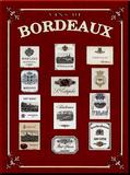 Bordeaux Plechová cedule