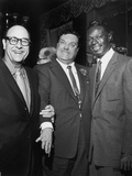 Nat King Cole and Jackie Gleason - 1959 Photographic Print by G. Marshall Wilson