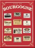 Bourgogne Plaque en métal